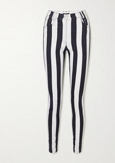 Balmain Striped High-rise Skinny Jeans