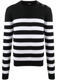 Balmain striped knit jumper