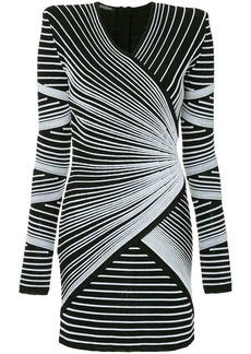 Balmain striped knit mini dress