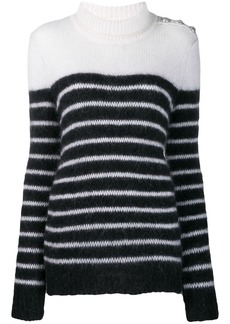 Balmain striped knitted jumper