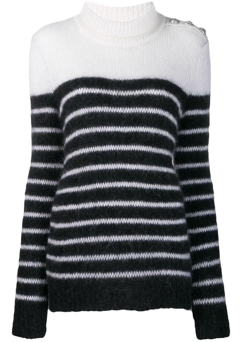 Balmain striped knitted jumper