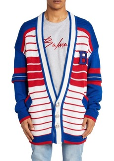 Balmain Striped Oversized Cardigan