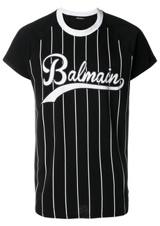 Balmain striped printed T-shirt