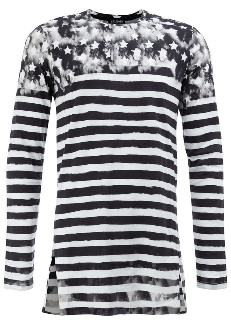 Balmain striped U.S.A. jumper