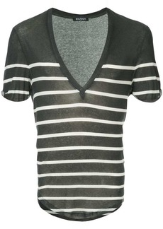 Balmain striped V-neck T-shirt
