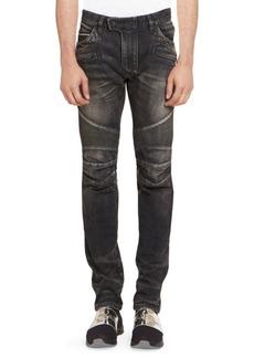 Balmain Tapered Biker Jeans