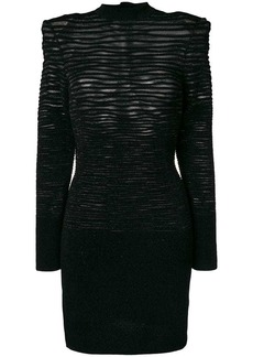 Balmain textured-knit dress