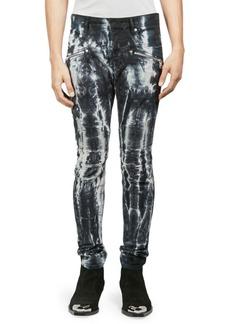 Balmain Tie-Dye Ribbed Skinny Jeans