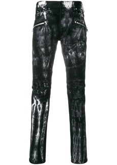 Balmain tie-dye skinny jeans