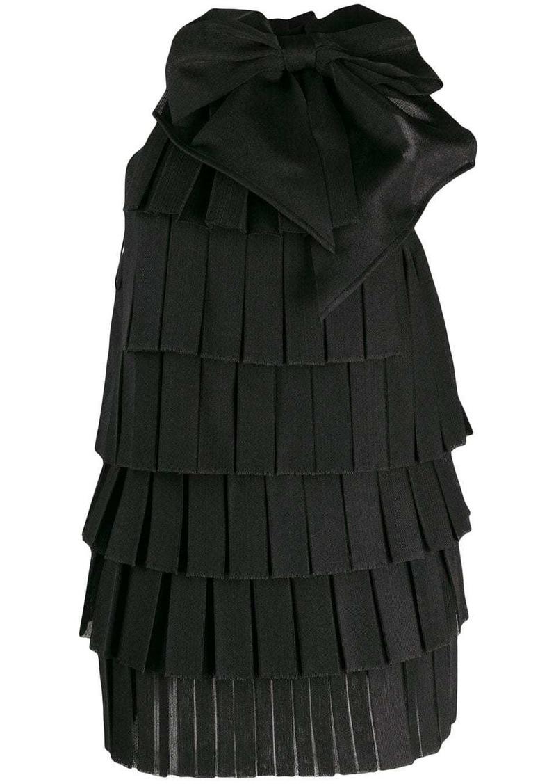 Balmain tiered panel dress
