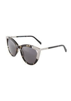 Balmain Tortoise Acetate/Metal Cat-Eye Sunglasses