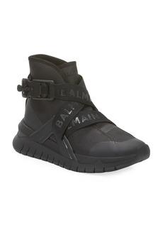 Balmain Troop Strappy High-Top Sneakers