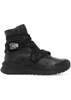 Balmain Troop Tech High Top Sneakers