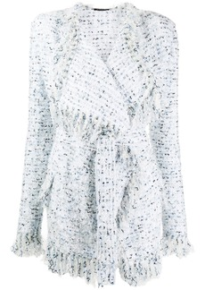 Balmain tweed fringed cardigan