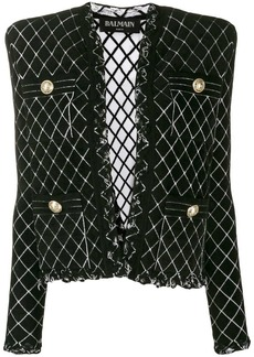 Balmain tweed knitted blazer
