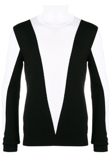 Balmain two-tone high neck sweater