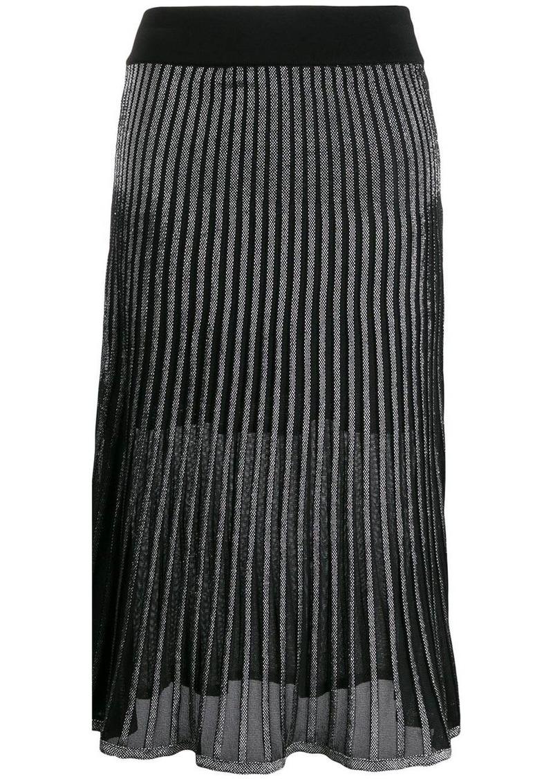 Balmain two-toned pleated skirt