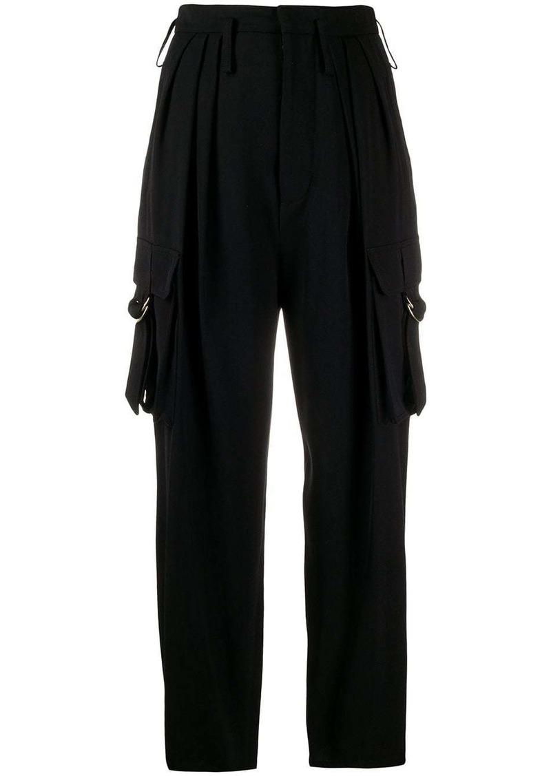 Balmain utility pockets high-waisted trousers