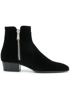 Balmain velvet ankle boots