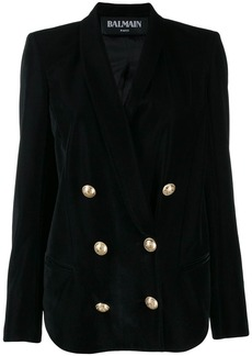 Balmain velvet double breasted blazer