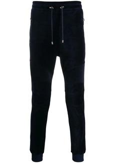 Balmain velvet slim fit track pants