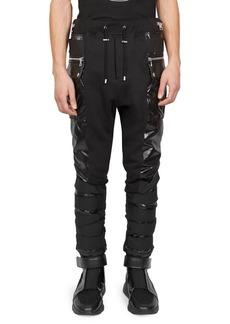 Balmain Vinyl Zip Jogger Pants