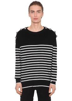 Balmain Virgin Wool Knit Sailor Sweater