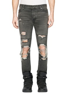 Balmain Washed Ripped Pants