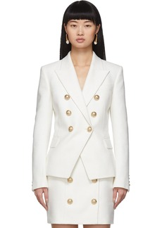 Balmain White 6-Button Blazer