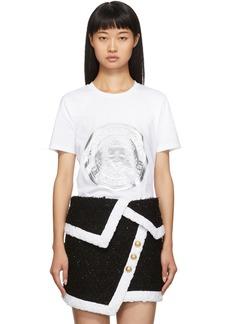 Balmain White Coin T-Shirt