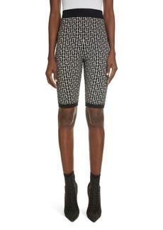 Women's Balmain Monogram Jacquard Bike Shorts