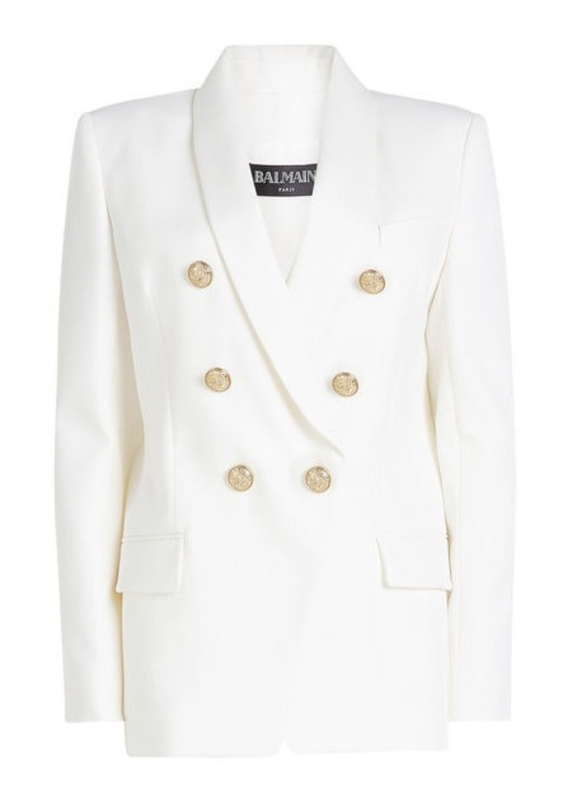 d9d9c8321 Wool Blazer with Embossed Buttons