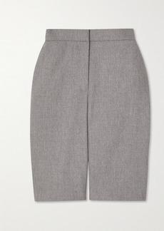 Balmain Wool-blend Flannel Shorts