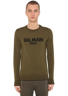 Balmain Wool Logo Knit Sweater