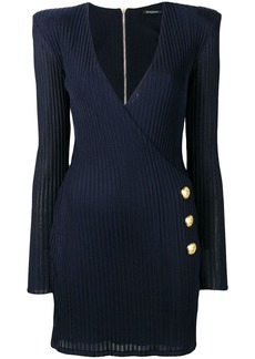 Balmain wrap-around knit dress