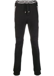 Balmain zip-detail biker track pants