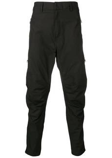Balmain zip detail tapered trousers