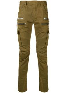 Balmain zip pockets biker jeans