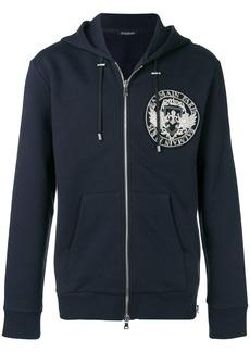 Balmain zipped print hoodie