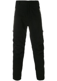 Balmain zipped slim trousers