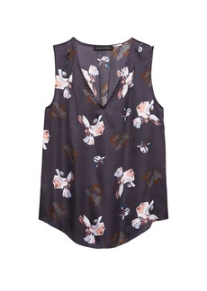 Banana Republic Floral Pleated Drapey Tank