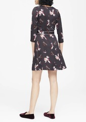 Banana Republic Floral V-Neck Fit-and-Flare Dress