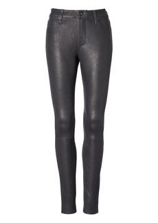 AG Jeans | Leather Farrah Hi-Rise Skinny Jean