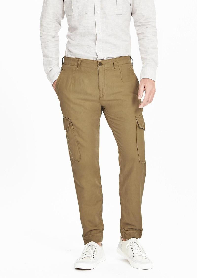 Banana Republic Aiden Slim Linen Cotton Cargo Pant