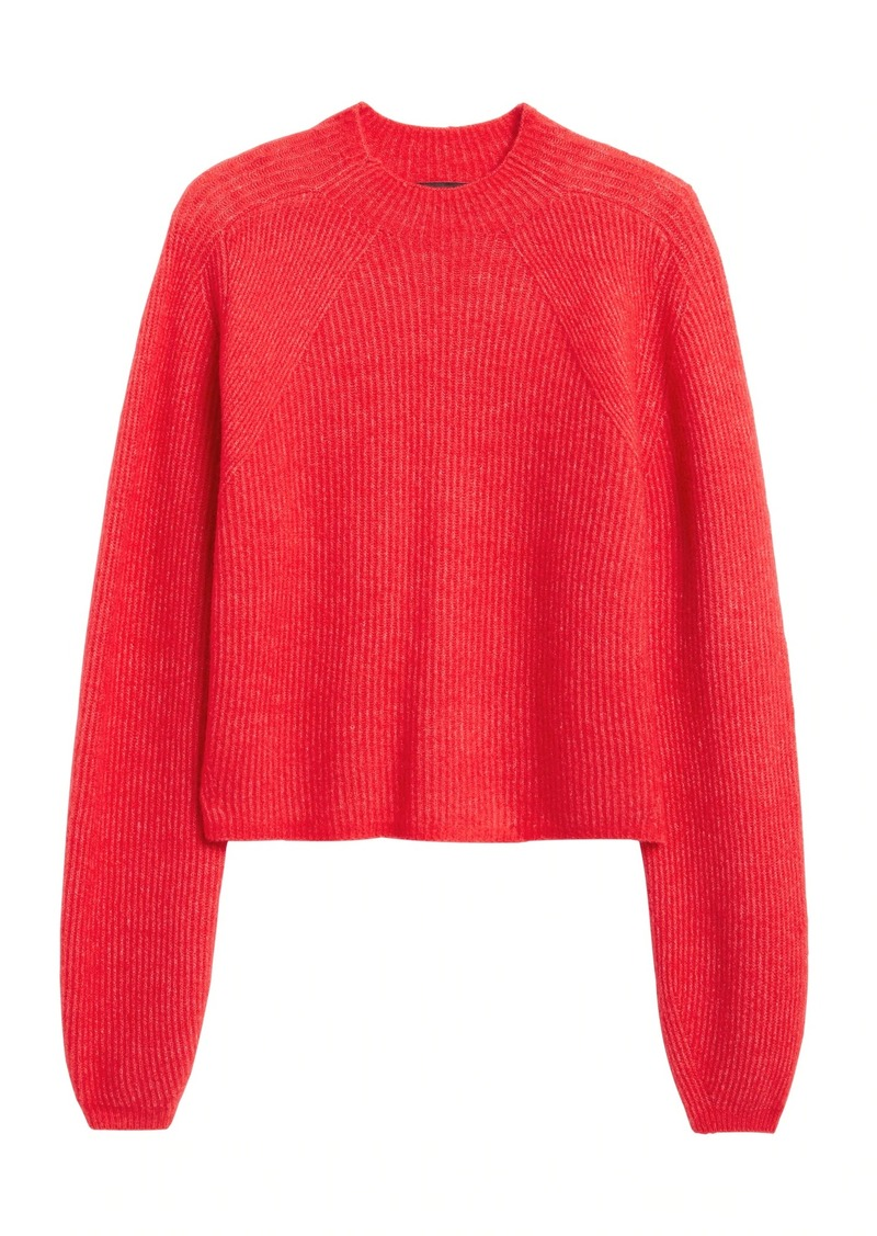 Banana Republic Aire Cropped Puff-Sleeve Sweater