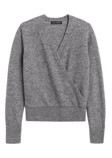 Banana Republic Aire Cropped Wrap-Effect Sweater