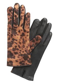 Banana Republic Animal Print Leather Gloves