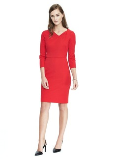Asymmetric Neckline Sheath Dress