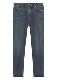 Banana Republic Athletic Tapered Cropped Rapid Movement Denim Jean