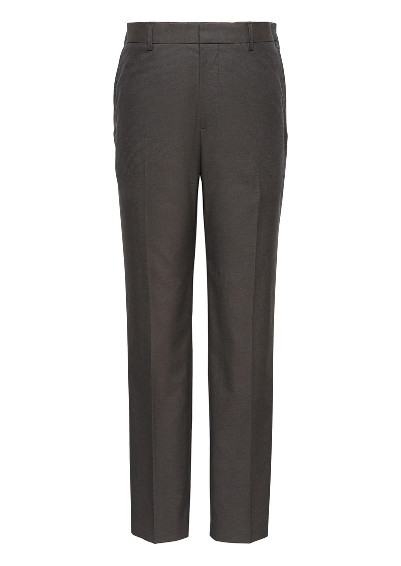 Banana Republic Athletic Tapered Non-Iron Stretch Cotton Solid Pant